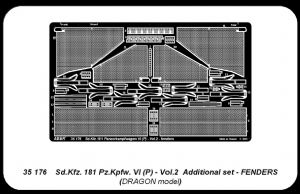 AB35176  Pz.Kpfw.VI (P) Sd.Kfz.181 part 2 fenders set (designed to be used with Dragon kits)